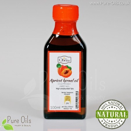 Apricot kernel oil, cold-pressed and crude Ol'Vita 100 ml