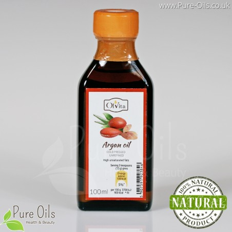 Argan oil, cold-pressed and crude Ol'Vita 100 ml