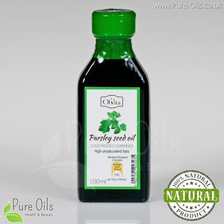 Parsley Seed Oil - Cold Pressed, Unrefined, Ol'Vita 100ml