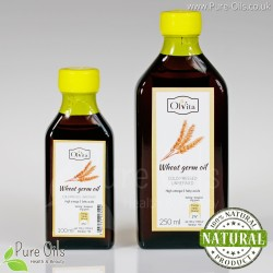 Wheat Germ Oil, cold-pressed and crude Ol'Vita 100 and 250 ml