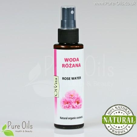 Woda Różana - Hydrolat - Naturalny kosmetyk organiczny, Ol'Vita 100 ml
