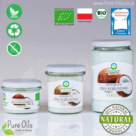 Coconut oil, cold-pressed, Virgin, BioFood