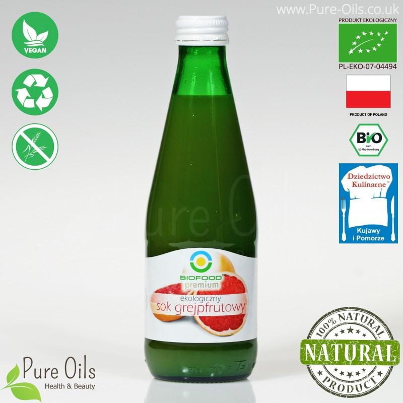 Sok Grejpfrutowy, ekologiczny, tłoczony, NFC, BioFood