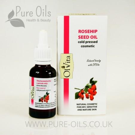 Olej z Pestek Róży, Kosmetyczny, Zimnotłoczony Ol'Vita 30ml