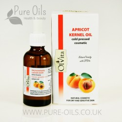 Apricot Kernel Oil, Cosmetic, Cold-Pressed, Ol'Vita 50 ml