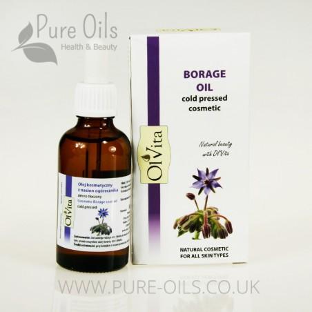 Borage Oil, Cosmetic, Cold-Pressed, Ol'Vita 50 ml