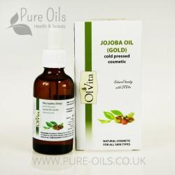 Jojoba Oil (Gold), Cosmetic, Cold-Pressed, Ol'Vita 50 ml