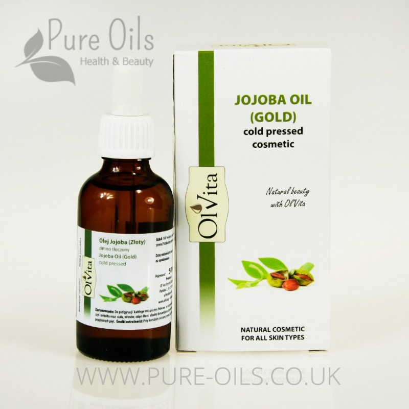 Jojoba Oil (Gold), Cosmetic, Cold-Pressed, Ol'Vita 50 ml