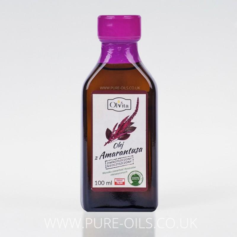 Olej z Amarantusa, zimnotłoczony, nieoczyszczony, Ol'Vita 100 ml