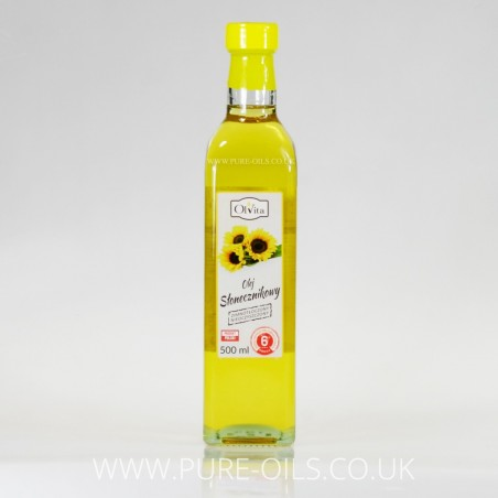 Sunflower oil, cold-pressed and crude Ol'Vita 500ml and 1000 ml