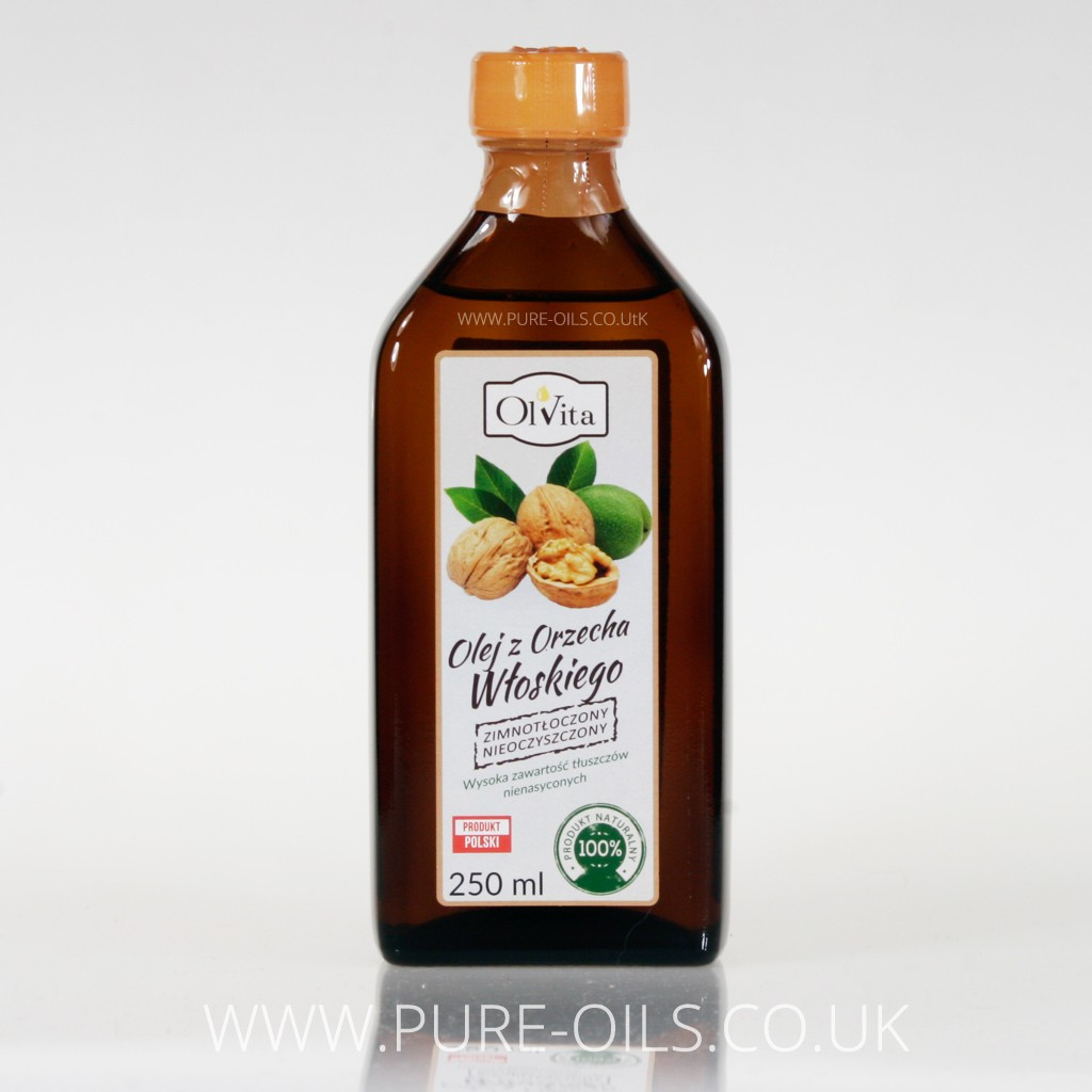 Walnut oil, cold-pressed and crude Ol'Vita 250 ml