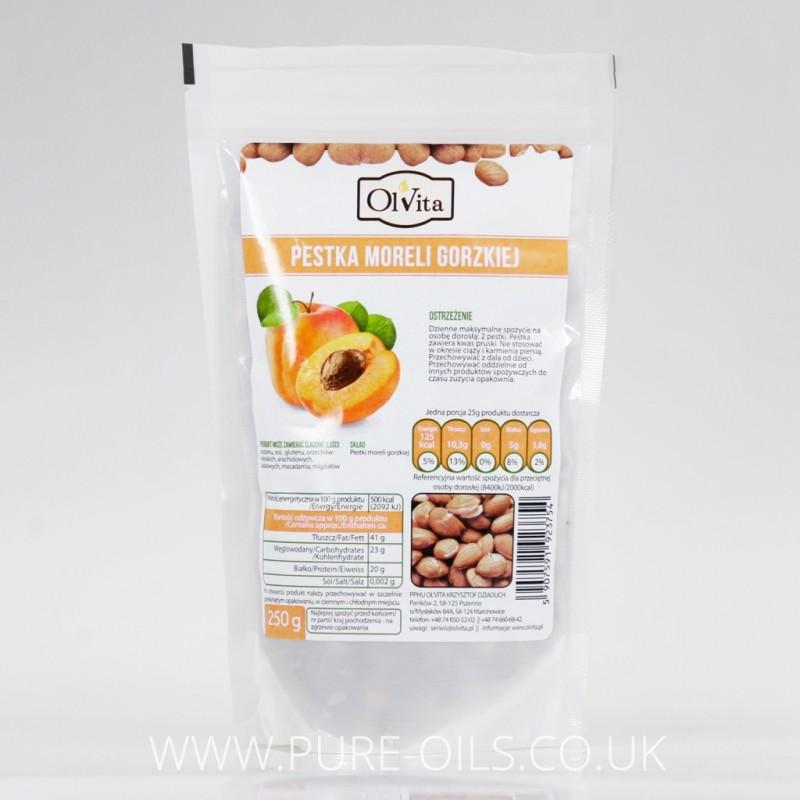Bitter Raw Apricot Kernels Seeds, Ol'Vita 250g