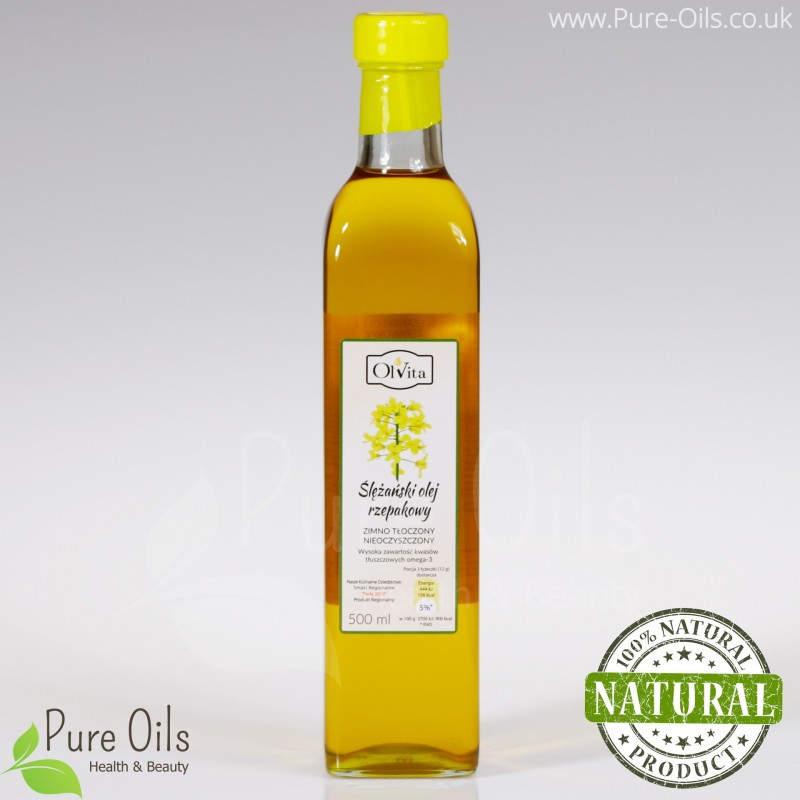 Rapeseed oil, cold-pressed and crude Ol'Vita 500ml and 1000 ml
