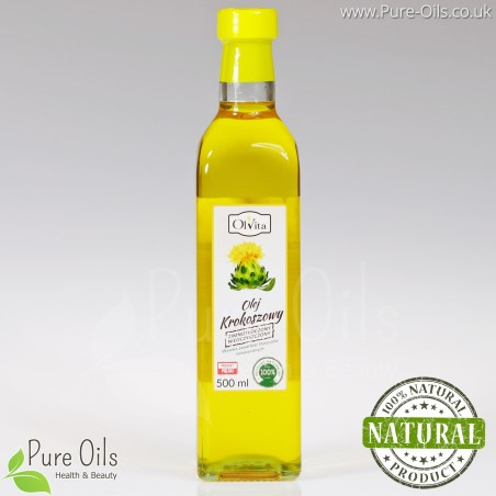 Safflower Oil, cold-pressed and crude, Ol'Vita 500ml