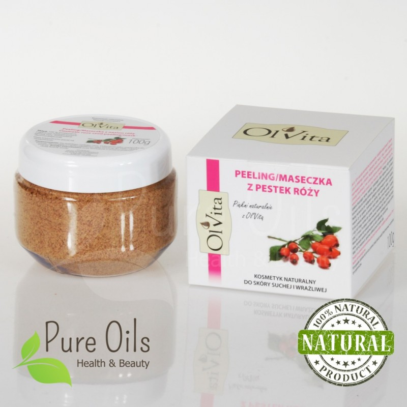 Rosehip Seeds Powder Scrub / Mask, Ol'Vita 100g