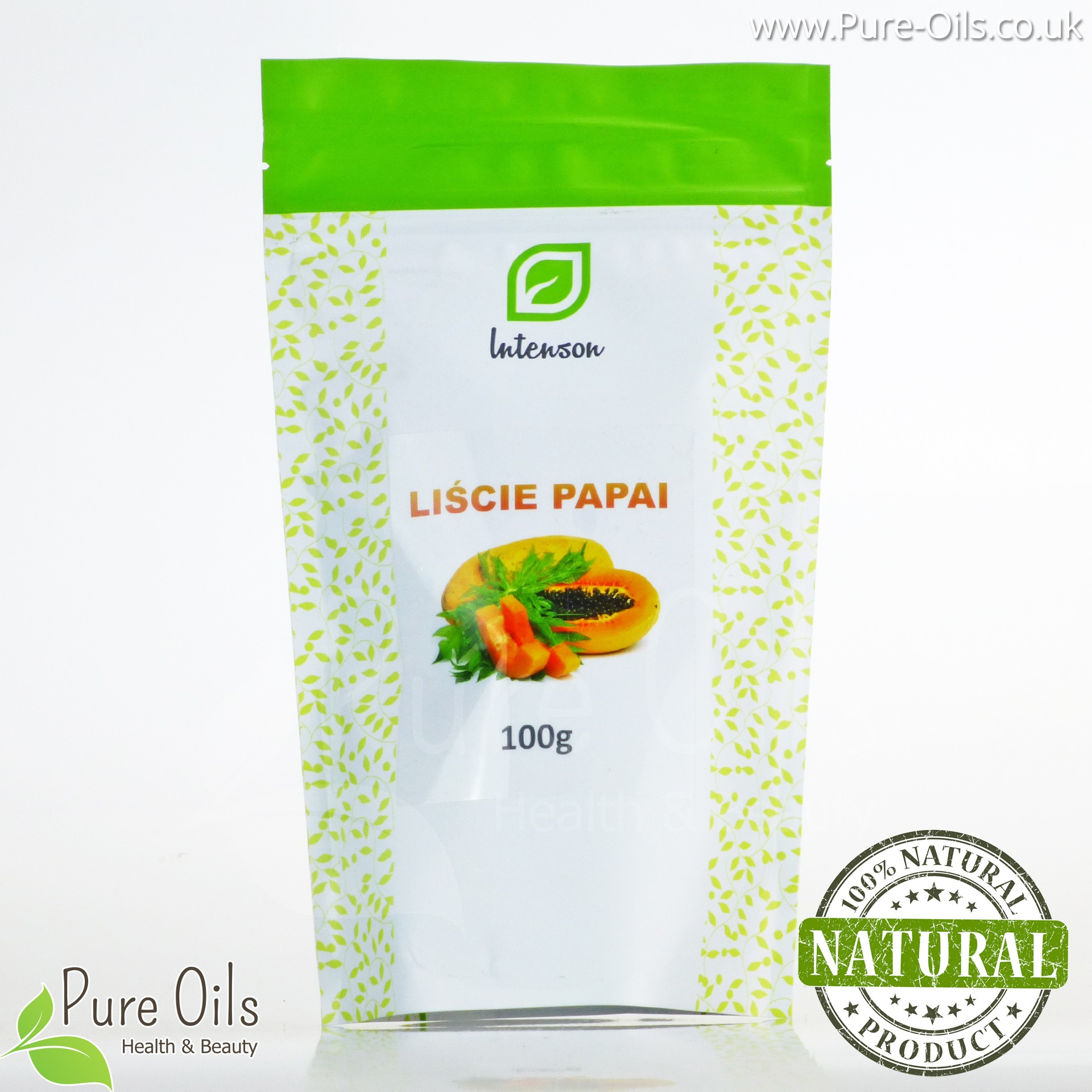 Papaya - dried leaf, Intenson - 100 g