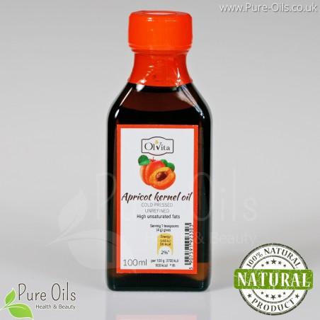 Apricot kernel oil, cold-pressed and crude Ol'Vita 100 ml