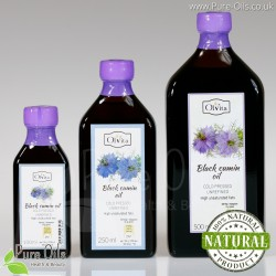Black cumin / black seed oil (Nigella sativa), cold-pressed and crude Ol'Vita
