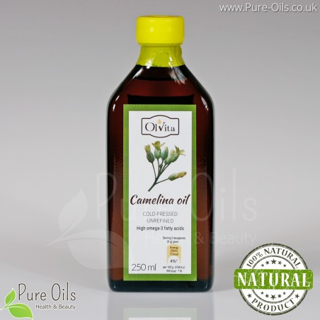 Camelina Oil, cold-pressed, unrefined Ol'Vita 250 ml