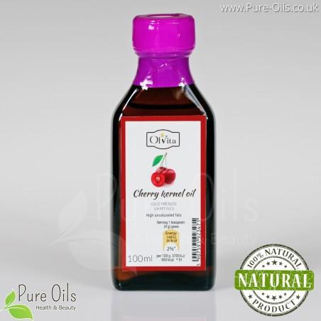 Cherry Seed Oil - Cold Pressed Unrefined - Ol'Vita 100 ml