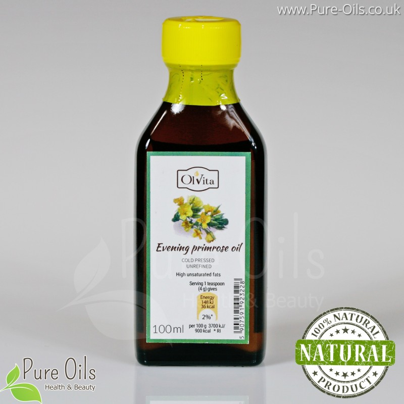 Evening Primrose Oil - cold pressed, unrefined Ol'Vita 100 ml