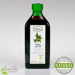 Hemp seed / cannabis oil, cold-pressed and crude Ol'Vita 250 ml