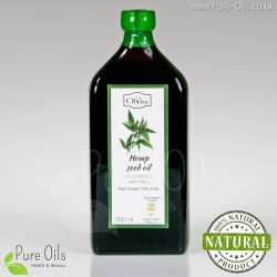 Hemp seed / cannabis oil, cold-pressed and crude Ol'Vita 500 ml