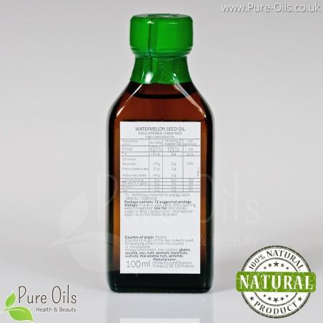 Olej z pestek arbuza, nierafinowany, zimnotłoczony, Ol'Vita - 100 ml