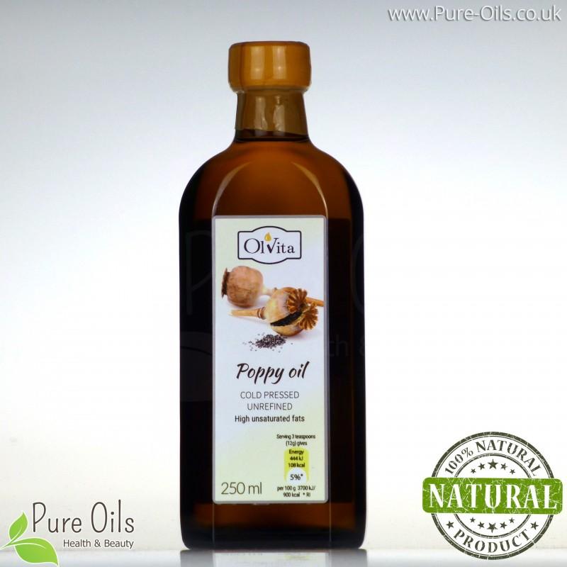 Olej Makowy zimnotłoczony nieoczyszczony Ol'Vita 250 ml