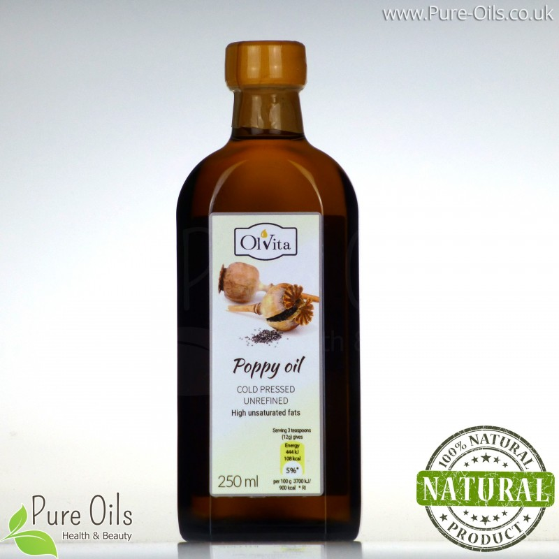 Poppy Seed Oil cold pressed and crude Ol'Vita 250 ml