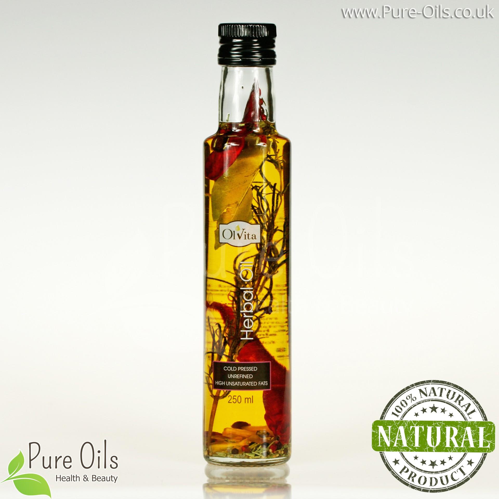 Olej ziołowy - czosnkowy, zimnotłoczony, nieoczyszczony Ol'Vita