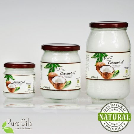 Coconut oil, cold-pressed Ol'Vita - 0.2, 0.45 and 0.9 l