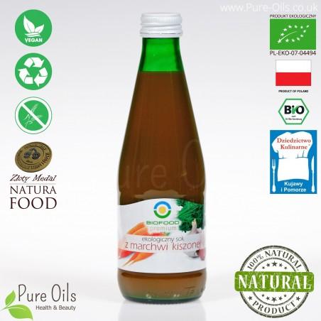 Carrot Juice – Lactic Acid Fermented, Organic, BioFood