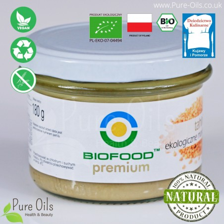 Sesame butter-Tahini, Organic, BioFood