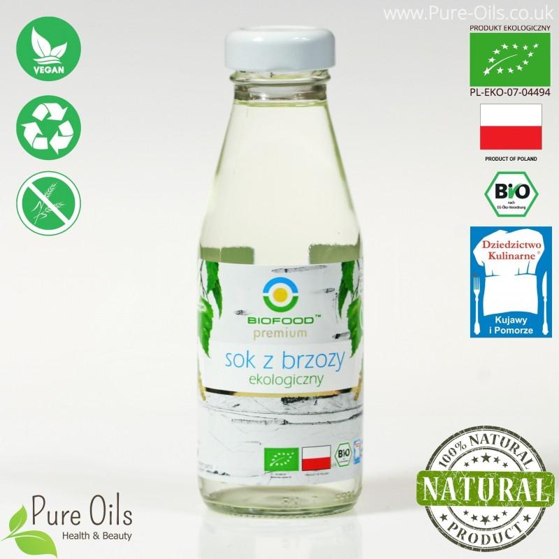 Sok z Brzozy - ekologiczny, tłoczony, NFC, Biofood
