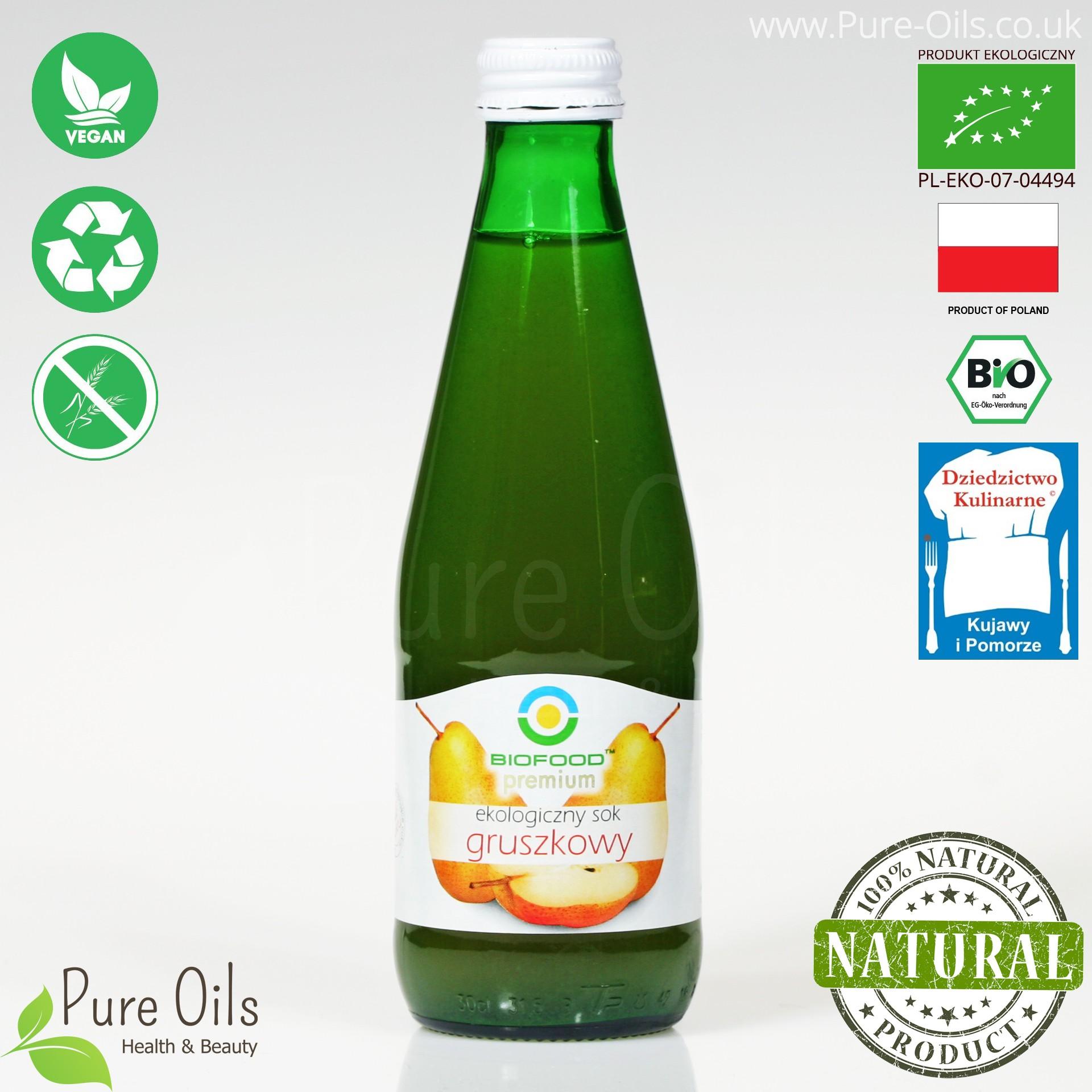 Pear Juice - Pressed, NFC, Organic, BioFood