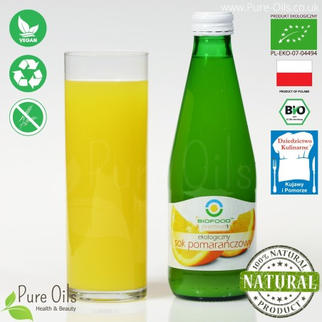Orange Juice - Pressed, NFC, Organic, BioFood