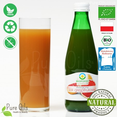 Grapefruit Juice - Pressed, NFC, Organic, BioFood