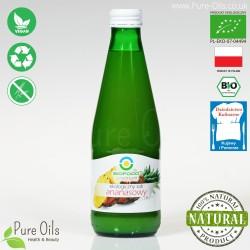 Sok Ananasowy, ekologiczny, tłoczony, NFC, BioFood