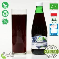 Sok z Czerwonych Winogron, ekologiczny, tłoczony, NFC, BioFood