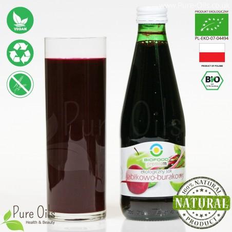 Apple-Beetroot Juice - Pressed, NFC, Organic, BioFood