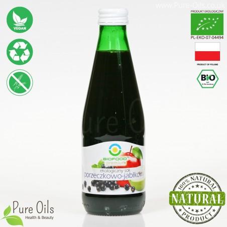 Sok Porzeczkowo-Jabłkowy, ekologiczny, tłoczony, NFC, BioFood