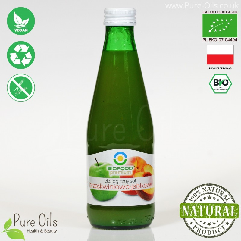 Peach-Apple Juice - Pressed, NFC, Organic, BioFood