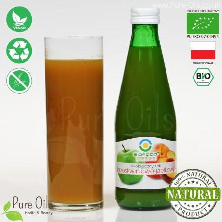 Peach-Apple Juice - Pressed, NFC, Organic, BioFood