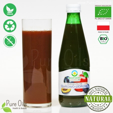 Plum-Apple Juice - Pressed, NFC, Organic, BioFood