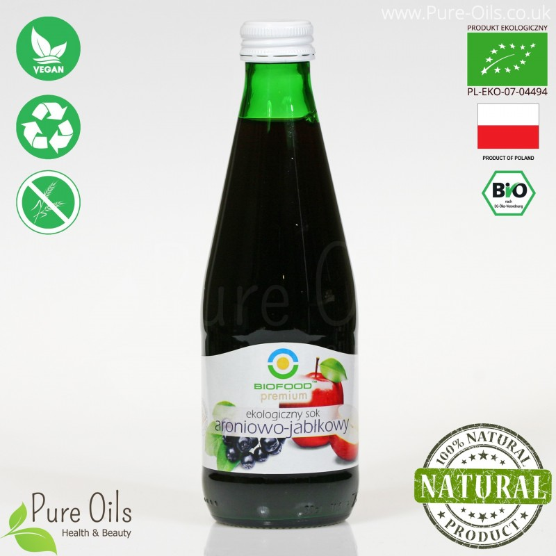 Chokeberry-Apple Juice - Pressed, NFC, Organic, BioFood
