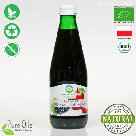 Sok Aroniowo-Jabłkowy, ekologiczny, tłoczony, NFC, BioFood