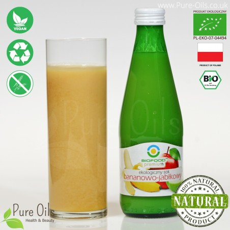Banana-Apple Juice - Pressed, NFC, Organic, BioFood