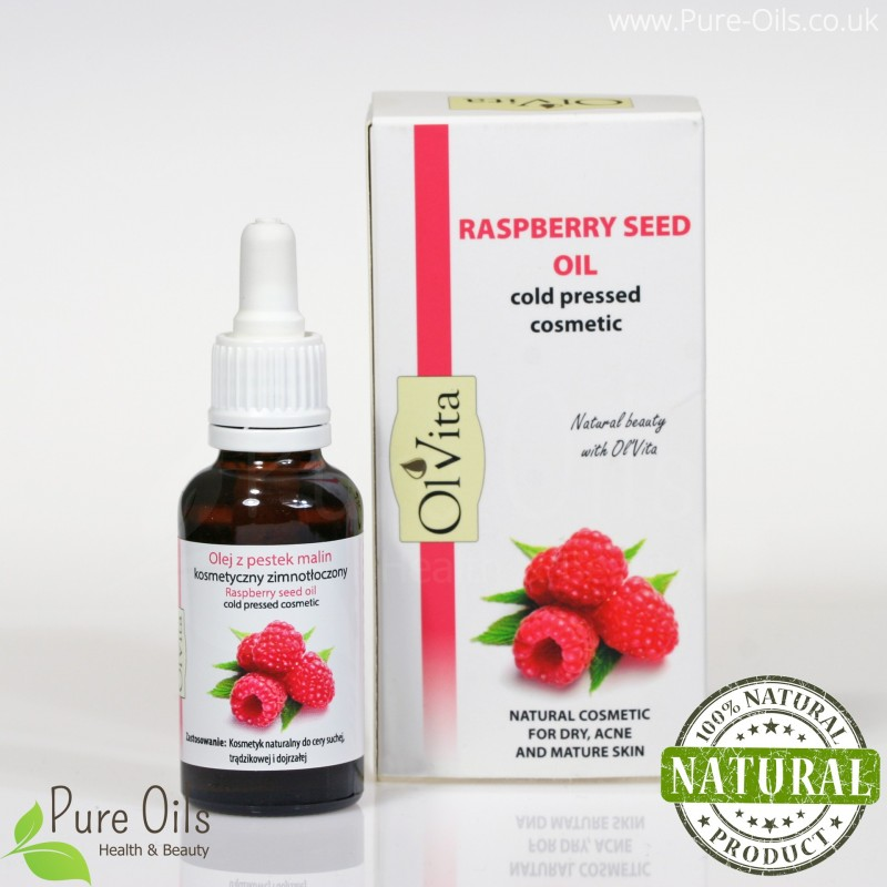Rasberry seed oil, cosmetic, cold-pressed, Ol`Vita - 30 ml