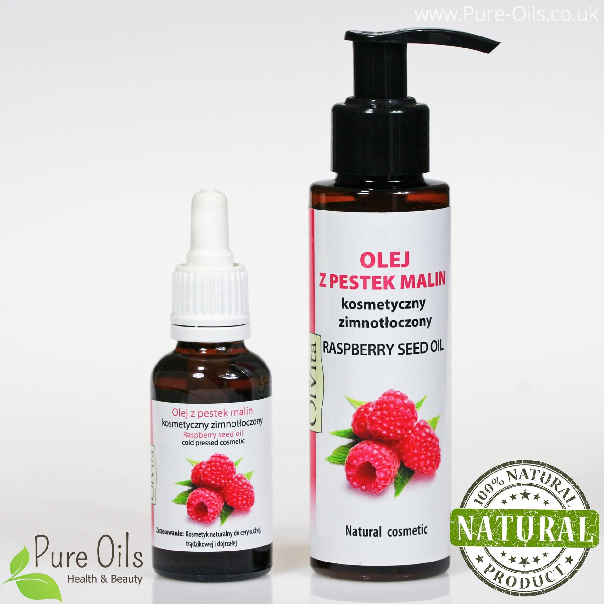 Olej z pestek maliny, kosmetyczny, zimnotłoczony, Ol`vita - 30 ml